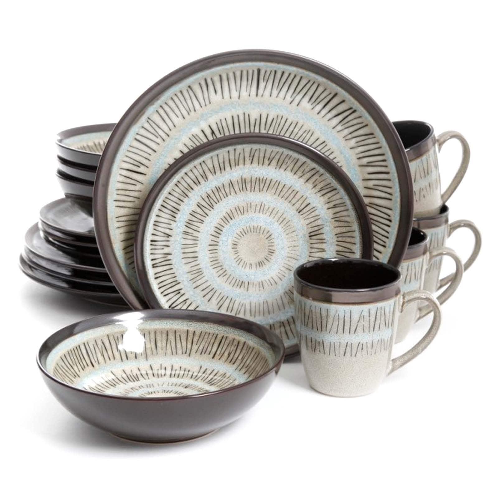 Gibson Elite Durham Stoneware 16-piece Round Dinnerware Set