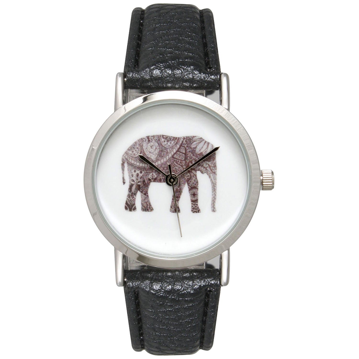 Olivia Pratt Women's Multicolor Stainless Steel Gorgeous Elephant Watch