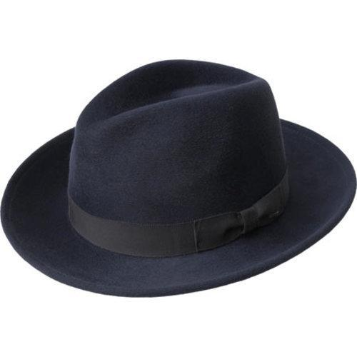 d0a41384db97cc Shop Men's Bailey of Hollywood Criss Wide Brim Hat 71001BH Navy - Free  Shipping Today - Overstock - 12366975