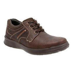 Men's Clarks Cotrell Plain Toe Shoe Brown Oily Cow Full Grain Leather