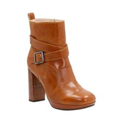 Women's Clarks Gabriel Mix Ankle Boot Tan Leather
