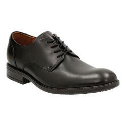 Men's Clarks Truxton Plain Toe Shoe Black Waterproof Cow Full Grain Leather