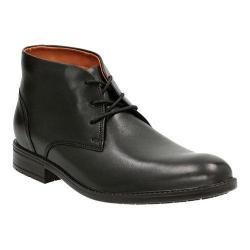 Men's Clarks Truxton Top Chukka Boot Black Waterproof Cow Full Grain Leather