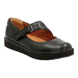 Women's Clarks Un.Briarcrest Mary Jane Black Cow Full Grain Leather