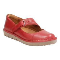 Women's Clarks Un.Briarcrest Mary Jane Red Cow Full Grain Leather