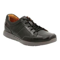 Men's Clarks Un.Lomac Lace Sneaker Black Cow Full Grain Leather