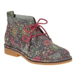 Women's Hush Puppies Cyra Catelyn Chukka Black Floral Suede