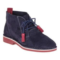 Women's Hush Puppies Cyra Catelyn Chukka Navy/Red Suede
