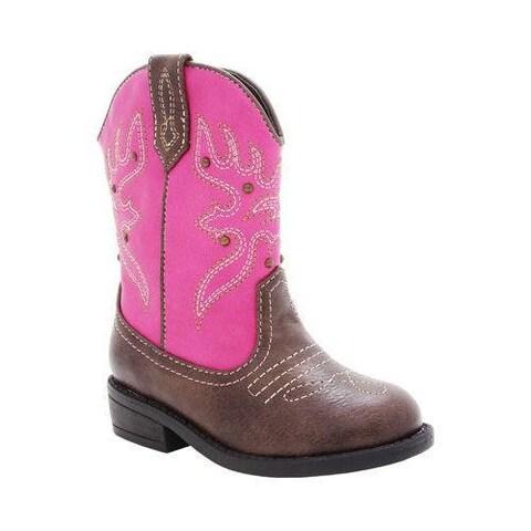 Girls' Nina Mirabela Cowboy Boot - Kid Light Pink Metallic
