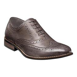 Men's Nunn Bush TJ Wing Tip Oxford Gray Leather