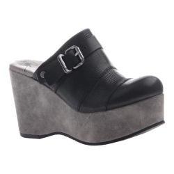 Women's OTBT Journey Mule Black Leather