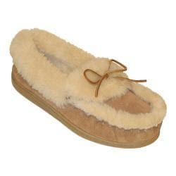 Women's Minnetonka Ultimate Sheepskin Slipper Tan