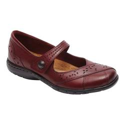 Women's Rockport Cobb Hill Petra Mary Jane Bordeaux Leather/Synthetic