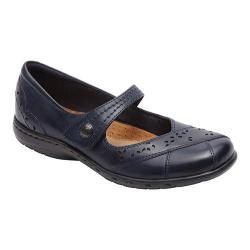 Women's Rockport Cobb Hill Petra Mary Jane Navy Leather/Synthetic