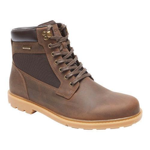 Men's Rockport Rugged Bucks Waterproof High Boot Dark Brown Leather