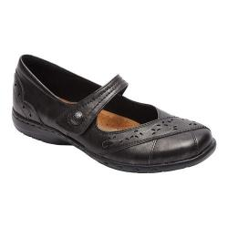 Women's Rockport Cobb Hill Petra Mary Jane Pewter Leather/Synthetic