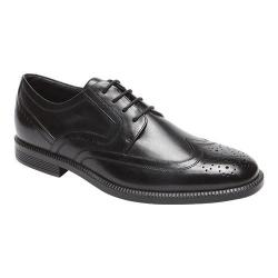 Men's Rockport Dressports Business Wing Tip Oxford Black Leather