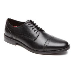 Men's Rockport Style Purpose Cap Toe Oxford Black Leather