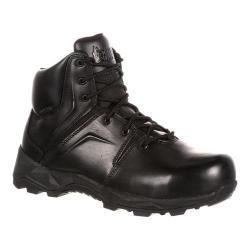 Men's Rocky 6in Elements Of Service Duty Zipper Boot Black Synthetic