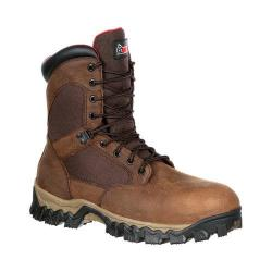 Men's Rocky 8in AlphaForce Composite Toe Waterproof Boot Brown Full Grain Leather/Nylon