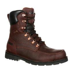 Men's Rocky 8in Upland Great Falls Waterproof Boot Brown Full Grain Leather