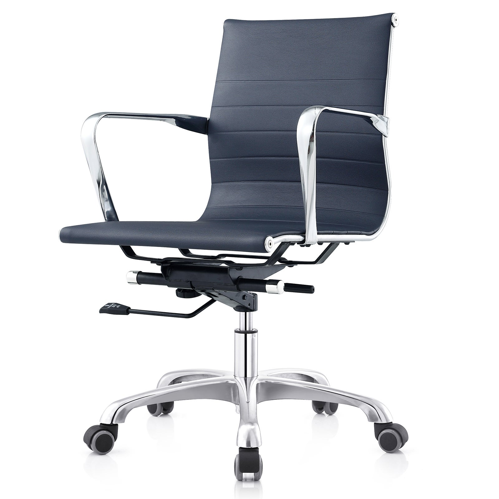 MC505 Ribbed Leatherette Mid-back Executive Office Chair
