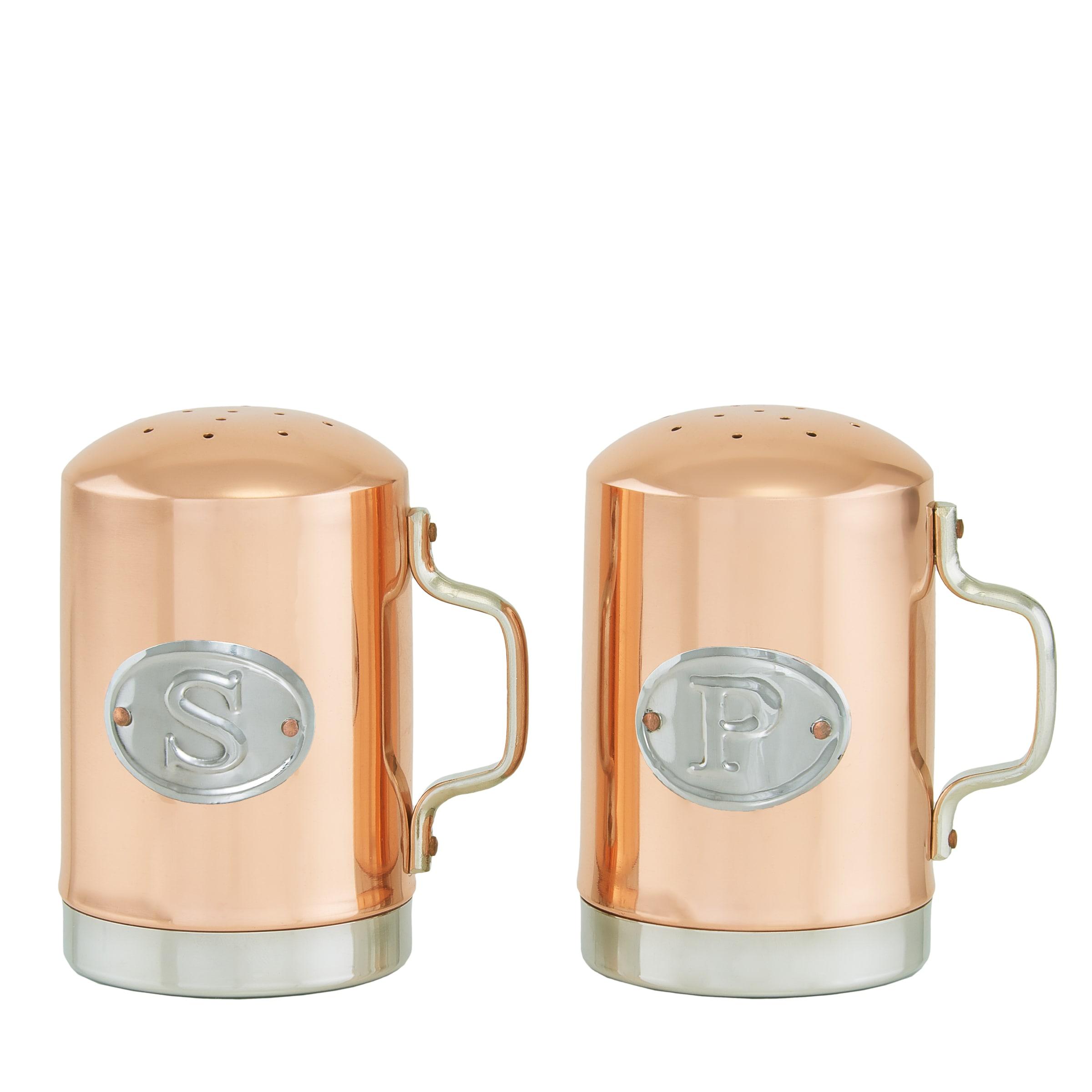 Old Dutch Decor Copper 4.25-inch Stovetop Salt and Pepper Shaker Set