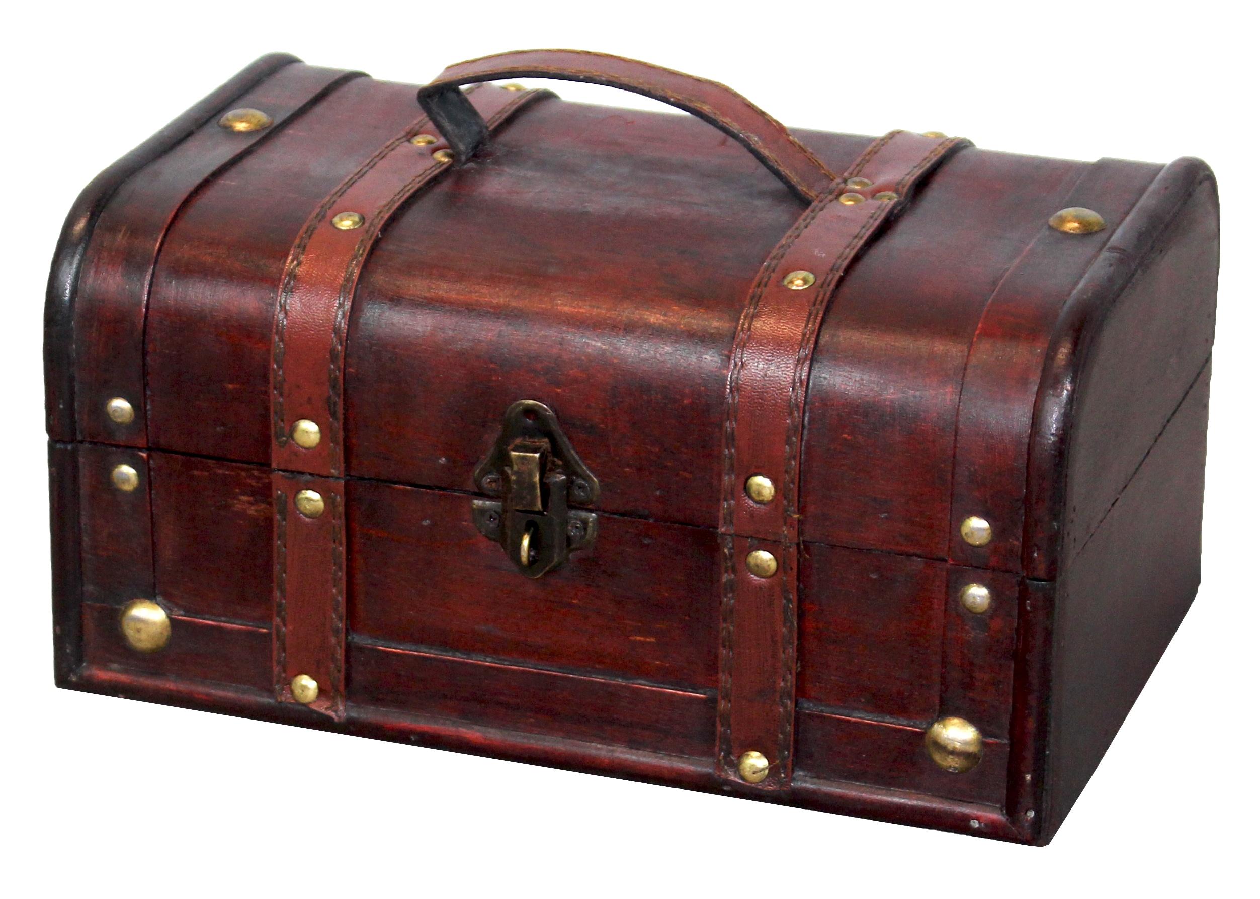 Decorative Wood Trunk-style Treasure Box