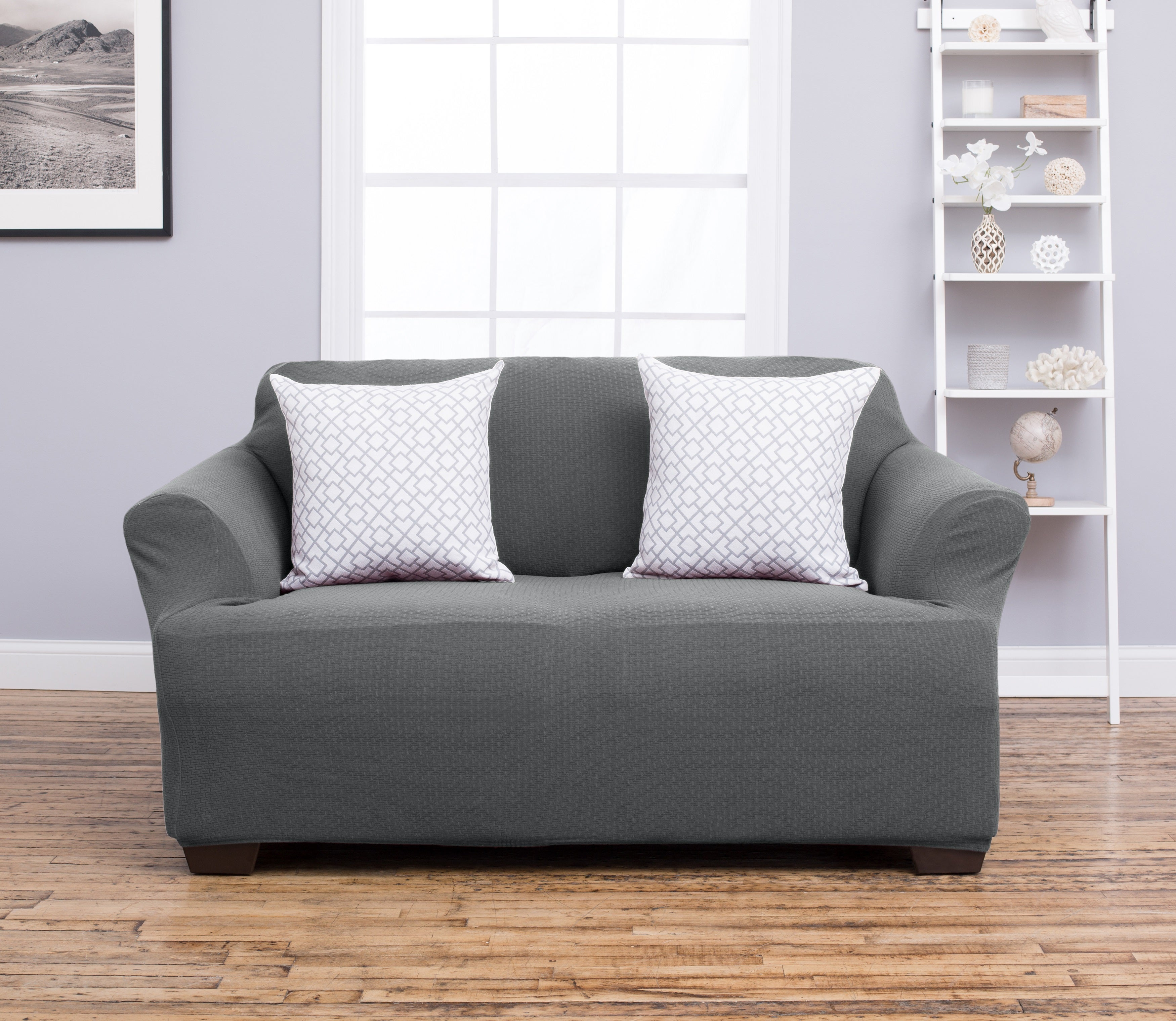 Home Fashion Designs Amilio Collection Heavyweight Stretch Loveseat Slipcover