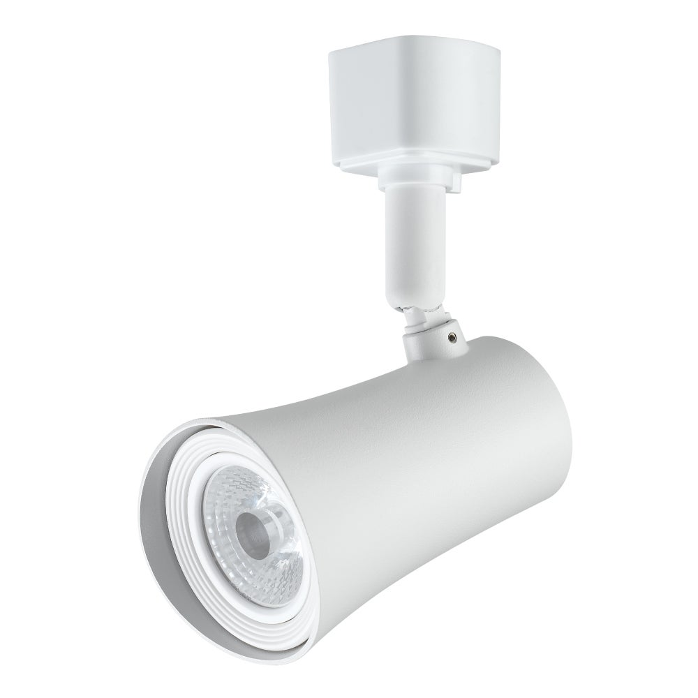Maximus White Plastic/Aluminum 4-inch LED Dimmable Track Lighting Head