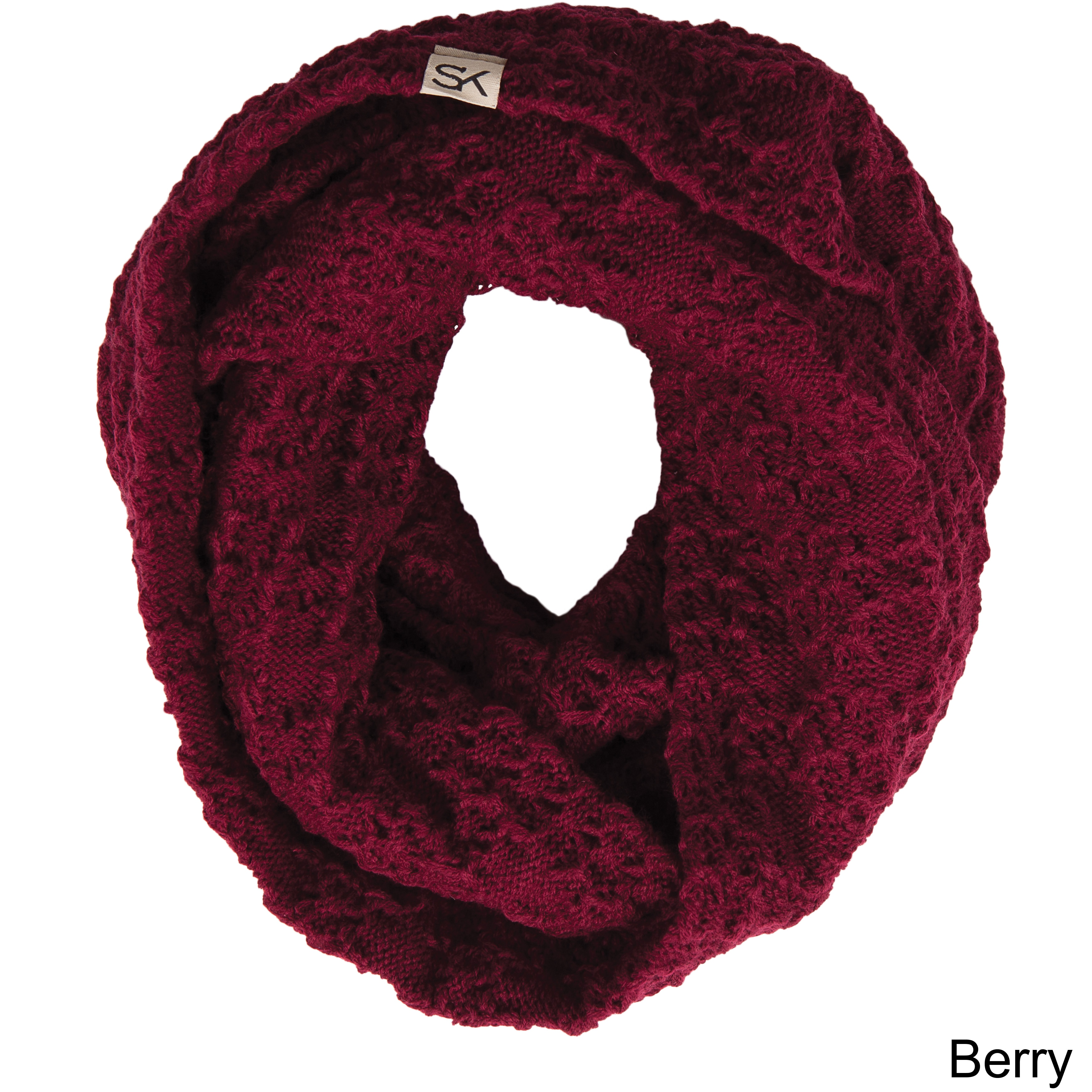 Stormy Kromer The Summit Berry Red Acrylic Scarf