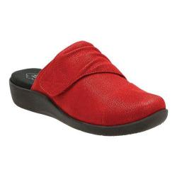 Women's Clarks Sillian Rhodes Slide Cherry Synthetic Nubuck