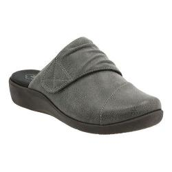 Women's Clarks Sillian Rhodes Slide Grey Synthetic Nubuck