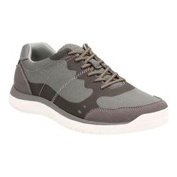 Men's Clarks Votta Edge Sneaker Grey Synthetic with White Sole