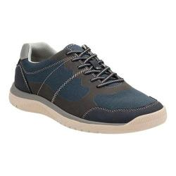 Men's Clarks Votta Edge Sneaker Navy Synthetic with Taupe Sole