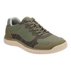 Men's Clarks Votta Edge Sneaker Olive Synthetic with Taupe Sole