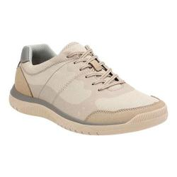 Men's Clarks Votta Edge Sneaker Sand Synthetic with Taupe Sole