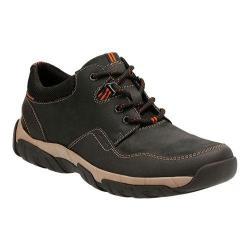Men's Clarks Walbeck Edge Sneaker Black Waterproof Leather
