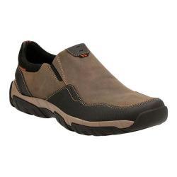 Men's Clarks Walbeck Style Slip-on Sneaker Olive Waterproof Leather