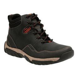 Men's Clarks Walbeck Top Ankle Boot Black Waterproof Leather