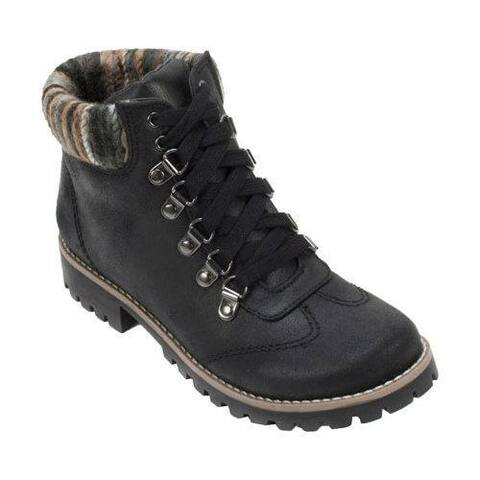 Women's Cliffs by White Mountain Portsmouth Trail Sweater Knit Hiker Boot Black/Multi Fabric/Textile/Sweater