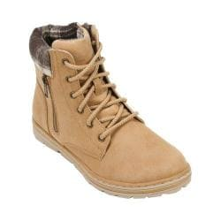 Women's Cliffs by White Mountain Kent Hiker Boot Wheat Distressed PU/Multi Fabric