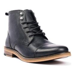 Men's Crevo Bookham Cap Toe Boot Black Leather
