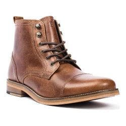 Men's Crevo Bookham Cap Toe Boot Chestnut Leather|https://ak1.ostkcdn.com/images/products/126/204/P19197482.jpg?impolicy=medium