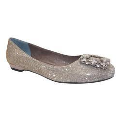 Women's J. Renee Dewport Jeweled Flat Pewter Dance Glitter Fabric