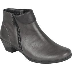 Women's Rieker-Antistress Lynn 61 Bootie Black/Black Leather