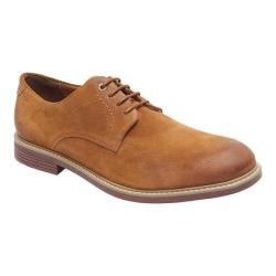 Men's Rockport Classic Break Plain Toe Oxford Cognac Suede