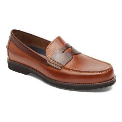 Men's Rockport Classic Move Penny Loafer Cognac/Dark Brown Leather