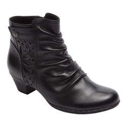 Women's Rockport Cobb Hill Abilene Ankle Boot Black Leather