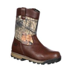 Men's Rocky 10in Traditions Waterproof Wellington Boot Brown Mossy Oak Break Up Country Leather/Nylon